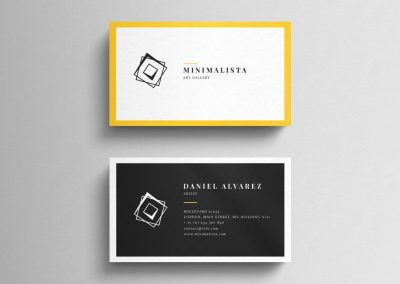 artist business card design