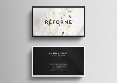 floral designer business card design
