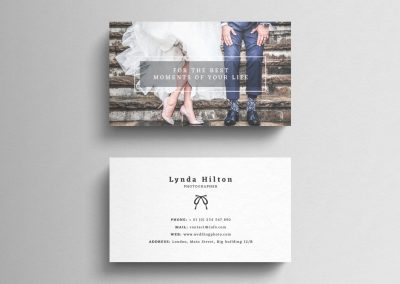 wedding planner business card design